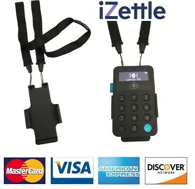 IZettle Card Reader Version 1 & 2 Black Neck Lanyard Clip With Safety Breakaway