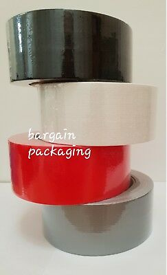 Black/white/silver/red  Duck Duct Gaffa Gaffer Cloth Waterproof Tape 48Mm X 45M