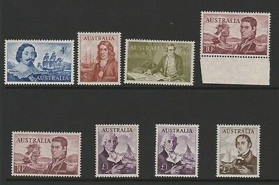 Australia 1963-65 Complete Set With White Papers Sg 355-360 Mnh.