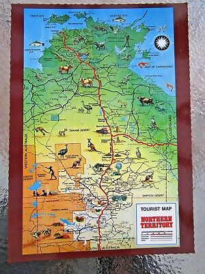 Postcard Tourist Map Northern Territory Australia - Postage $1.50