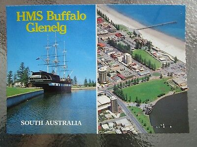 Postcard Hms Buffalo Glenelg South Australia - Multi View   - Postage $1.50
