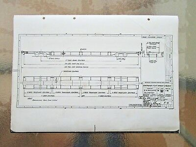 SAR  Railways Blueprint Diagram CONTAINER FLAT WAGON  #2- POST $2.50