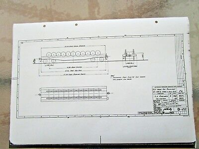 SAR  Railways - Diagram  FLAT WAGON FOR TRANSPORT  Blueprints - POSTAGE $2.50