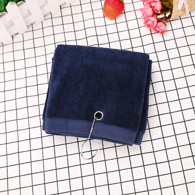 31B4 with Golf Golf Towel with Hook Golf Towel Cotton Towel Hook Tri-Fold