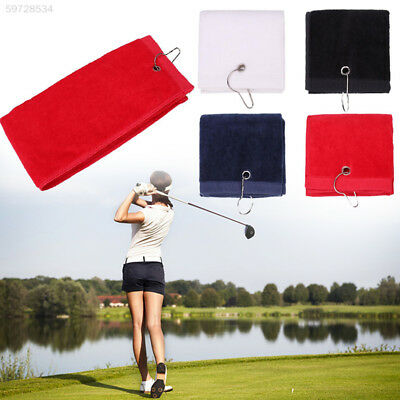 FEF9 Cotton Towel Hook Golf Towel with Hook with Tri-Fold Golf Towel Golf