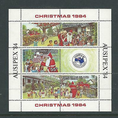 1984 Christmas/Ausipex '84 Mini Sheet set of 3 Complete MUH/MNH