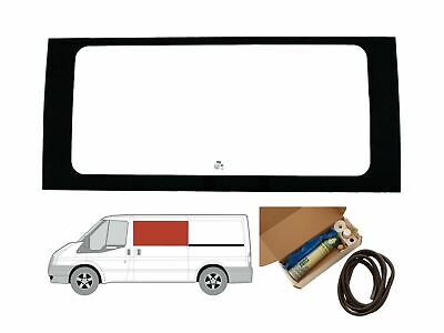 LH Sliding Door Clear Fixed Window Kit for Ford Transit MK6/7 (00-14) [MWB; LWB]