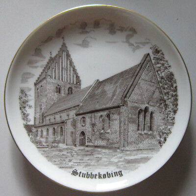 Bing and Grondahl City Plate Serie 619 Stubbekobing Church with drawing in brown