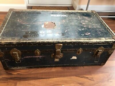 LARGE Antique Steamer Chest - Blanket Trunk - Toy Chest