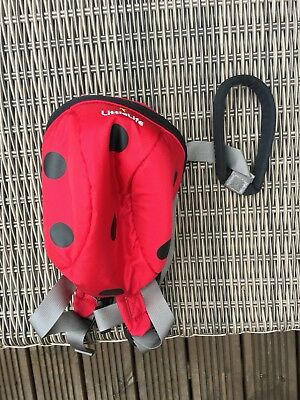 LittleLife Animal Toddler Daysack Backpack - LadyBird - WITH REINS