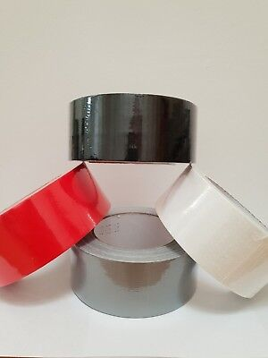 RED SILVER WHITE BLACK WATERPROOF CLOTH DUCKT DUCK FAGGER GAFFA TAPE 50M X50mm