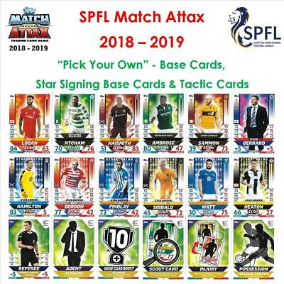 "SPFL / Scottish Match Attax 18 - 19: ""Pick Your Own"" - Base Cards"