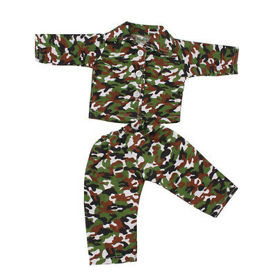 """Camouflage Pajamas Nightgown For 18"""" American Our Generation My Life Dolls"""