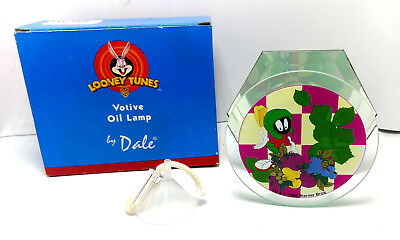 *NEW* Looney Tunes MARVIN the MARTIAN Dale Tiffany Glass Votive Oil LAMP 1997