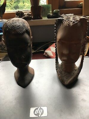African Artifact - two heads