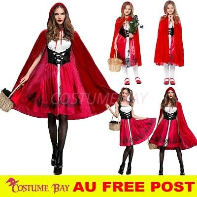 Women Girls Little Red Riding Hood Halloween Maid Oktoberfest Fairytale Costume