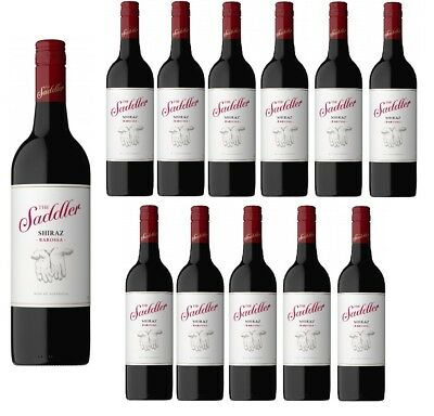 RRP $370! The Saddler Barossa Valley Shiraz Red Wine 2015 (12x750ml) Free Post!