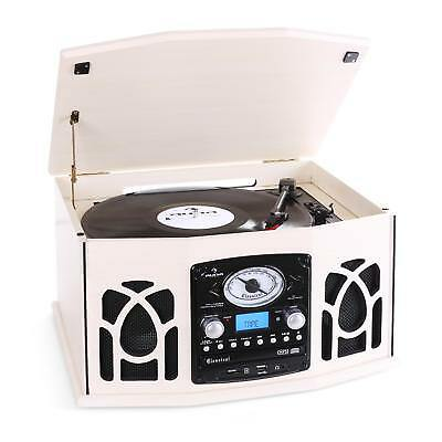 Auna Nostalgie Retro Plattenspieler Turntable Hifi Vintage Anlage Cd Player Mp3