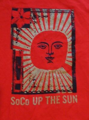 """Southern Comfort T Shirt....Red..""""SoCo Up the Sun""""..Bright...Men's Large...NEW"""