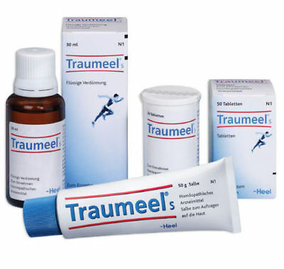 Traumeel 50g Ointment 30ml Drops 50 tabs Pain Relief Analgesic Anti Inflammatory