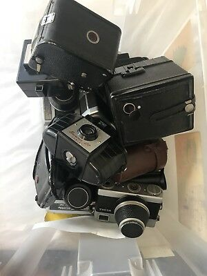 Job Lot vintage Cameras - Werra 1, Zeiss, KODAK Brownie, Coronet Ambassador Etc