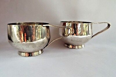 Art Krupp Berndorf pair silver vessels German eagle crest UAL 1891-1927 Quality