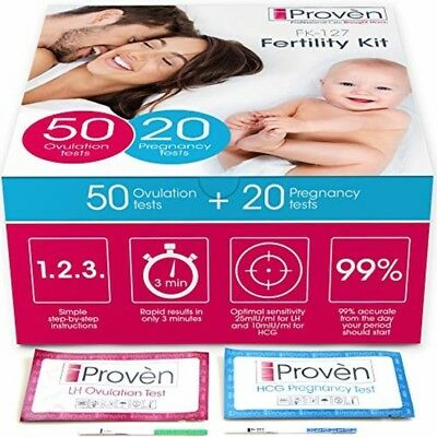 Ovulation Test Strips and Pregnancy Test Kit Sale - 50 LH and 20 HCG - OPK Ovula