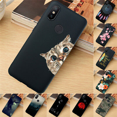 For Xiaomi Redmi 4X 5 Plus Note 5 6 7 8 Pro Case Silicone Painted Slim TPU Cover