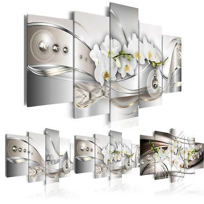Canvas Print Modern Abstract Floral Flower Orchid Painting Home Decoration Art