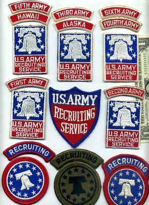 Vintage US ARMY RECRUITING SERVICE Cotton Patch Lot (from Collection)