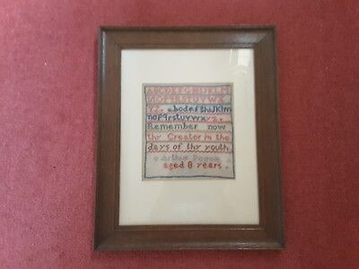 Victorian Sampler 1883 by eight year old Boy