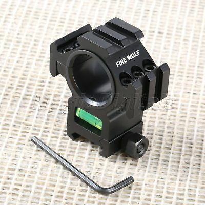 Hunting Rifle Rail Scope Mount Stand Holer Gasket Ring With Spirit Bubble Level
