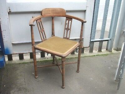 antique edwardian corner chair in good condition