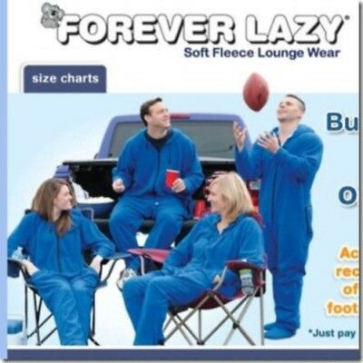 Forever Lazy ~ Adult Loungewear ~ Size: XXL in BLUE - NO ATTACHED FEET