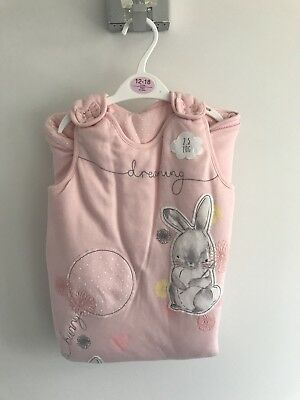George Baby Sleepbag 12-18 Months New With Tags Pink Bunnies 2.5 Tog