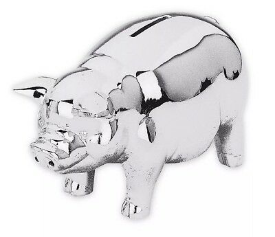 Reed & Barton Silver Classic Piggy Bank - Brand New In Box