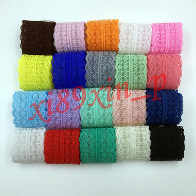 Q01 12 Yards Net Lace Trim Ribbon Bilateral Handicrafts Embroidered  Wholesale