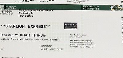 starlight express tickets 1x Bochum 23.10.