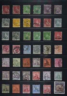 Trinidad, a collection of 42 older used stamps for identification and sorting.