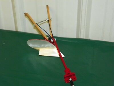 "Miniature 9"" Hand Crafted Horse Drawn Single Moldboard Plow Case IH Red Small"