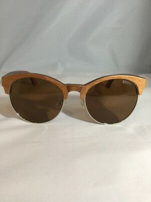 Brgtn Retro Vintage Handmade Wooden Unisex Sunglasses Red Turquoise Detail BNWNB