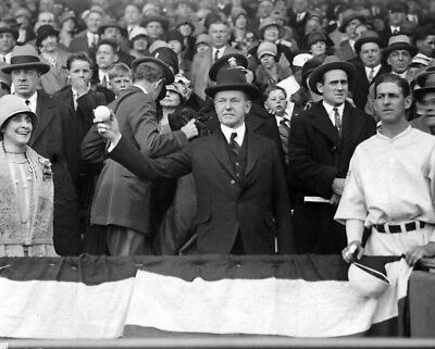 1927 US President CALVIN COOLIDGE Glossy 8x10 Opening Day Photo Print Poster