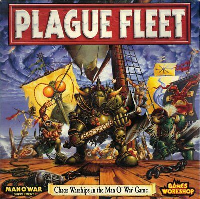 RARE Games Workshop Man O War Plague Fleet Fantasy Battle Game/new and sealed