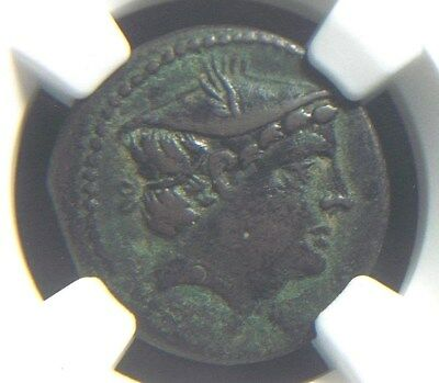 Roman Republic Anonymous AE Semuncia, after 217 BC  NGC Ch VF 4037