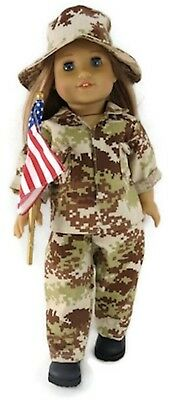 4 piece Military Army Set made for 18 inch American Girl Doll Clothes