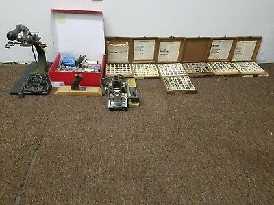 Vintage Kingsley Machine Franklin Embosser Type Bundle ESTATE FIND