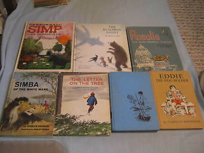 LOT OF 7 VINTAGE WEEKLY READER CHILDREN'S BOOK CLUB HC Illustrated 1950s & 1960s