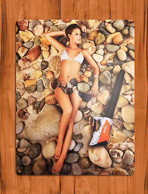 "TIN SIGN ""Stihl Rocks"" Calendar Wet Vac Sexy Shop Garage Wall Decor"