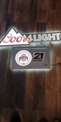 Coors Light Ohio State Light Up Sign