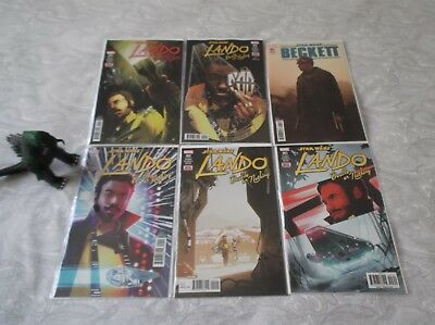 Star Wars Lando Double Or Nothing 1 - 5 Limited Series 1St Prints Marvel Comics